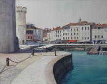 Entrance to the Vieux Port La Rochelle - France