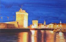 Harbour Lights at La Rochelle - France