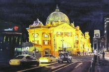 Melbourne By Night - Flinders Street