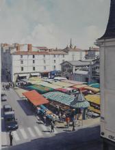 Place du Marche from Rue Saint Yon La Rochelle - France
